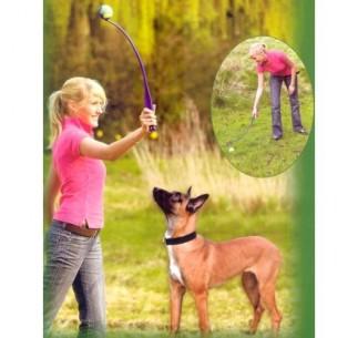 Lanzador para perros recoge pelotas
