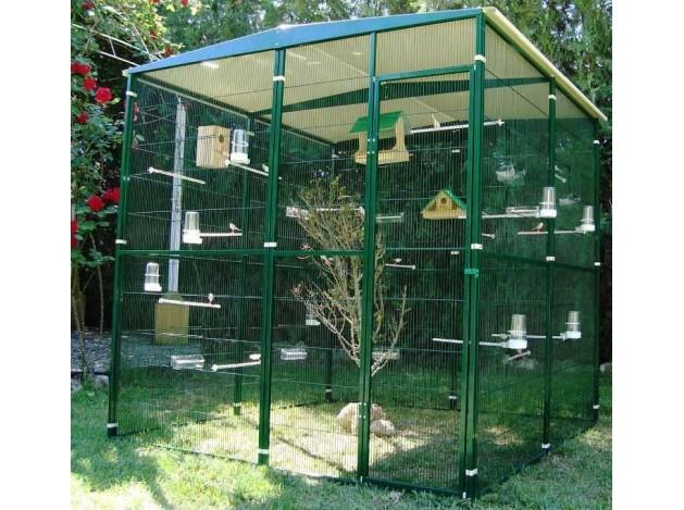 Voladero  para pájaros de  Jardin 4m2...