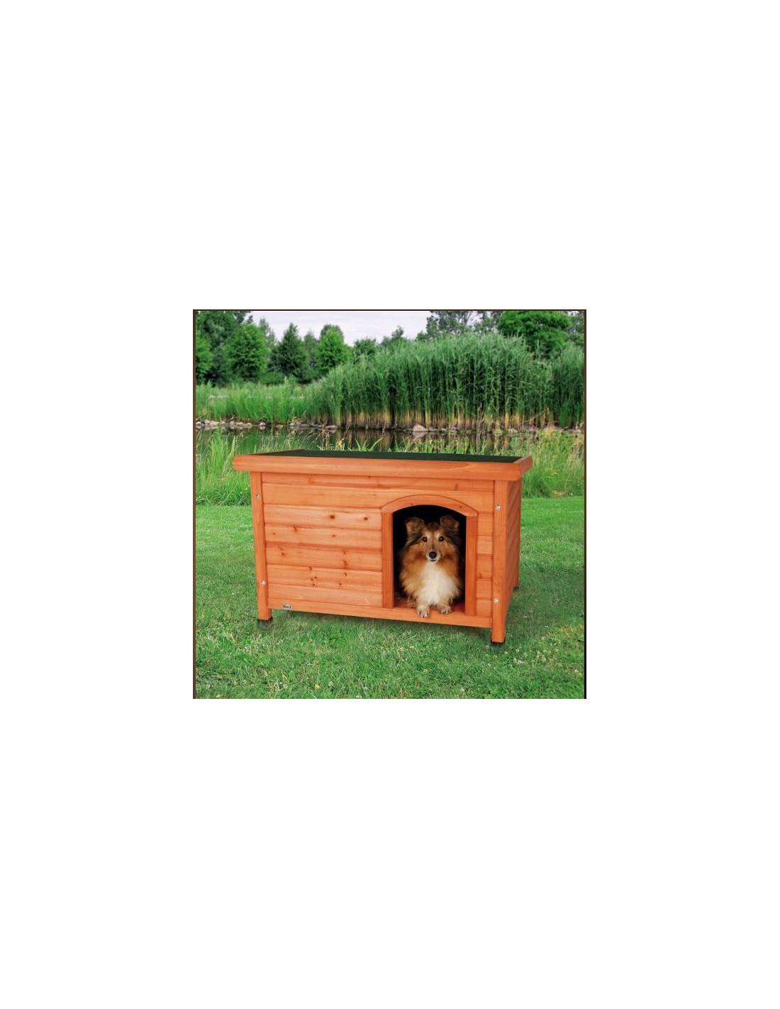 Caseta madera natura m casetas para perros trixie - Caseta perro madera ...